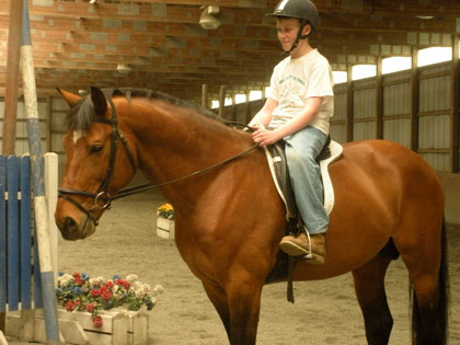 children horse riding lessons